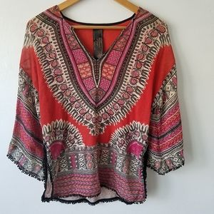 Free People New Romantic Tribal Sweater Small